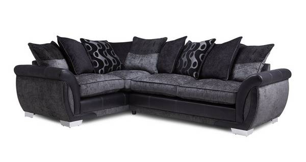 Amelle Right Hand Facing Pillow Back 3 Seater Corner Sofa