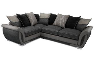 Amelle Right Hand Facing Pillow Back 3 Seater Corner Sofa Talia
