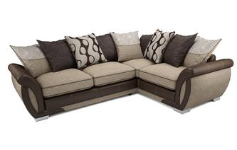 Amelle Left Hand Facing Pillow Back Corner Sofa Bed Talia