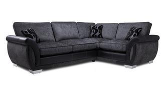 Amelle Left Hand Facing Formal Back Deluxe Corner Sofa Bed