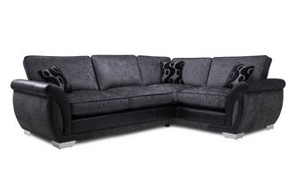 Left Hand Facing Formal Back Deluxe Corner Sofa Bed Talia