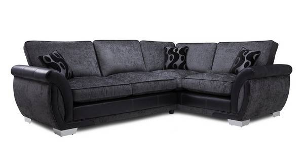 Amelle Left Hand Facing Formal Back Deluxe Corner Sofa Bed