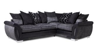 Amelle Left Hand Facing Pillow Back Deluxe Corner Sofa Bed