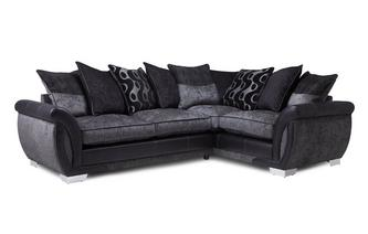 Left Hand Facing Pillow Back Deluxe Corner Sofa Bed Talia