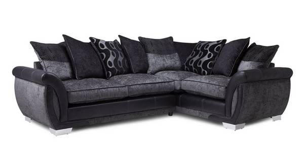 Amelle Left Hand Facing Pillow Back Deluxe Corner Sofa Bed