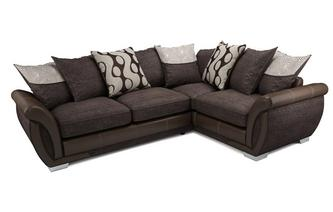 Amelle Left Hand Facing Pillow Back Deluxe Corner Sofa Bed Talia