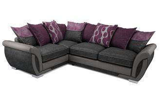 Amelle Right Hand Facing Pillow Back Corner Sofa Bed Talia
