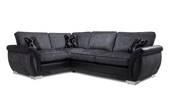 Amelle Right Hand Facing Formal Back Deluxe Corner Sofa Bed Talia
