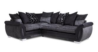 Amelle Right Hand Facing Pillow Back Deluxe Corner Sofa Bed