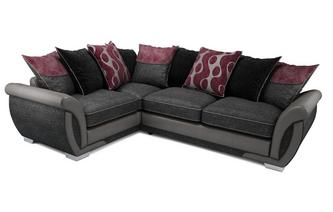 Amelle Right Hand Facing Pillow Back Deluxe Corner Sofa Bed Talia