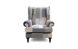 Anastasia Patch Wing Chair Aspen Patch