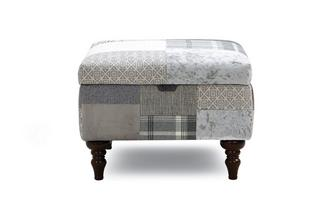 Anastasia Patch Storage Footstool Aspen Patch