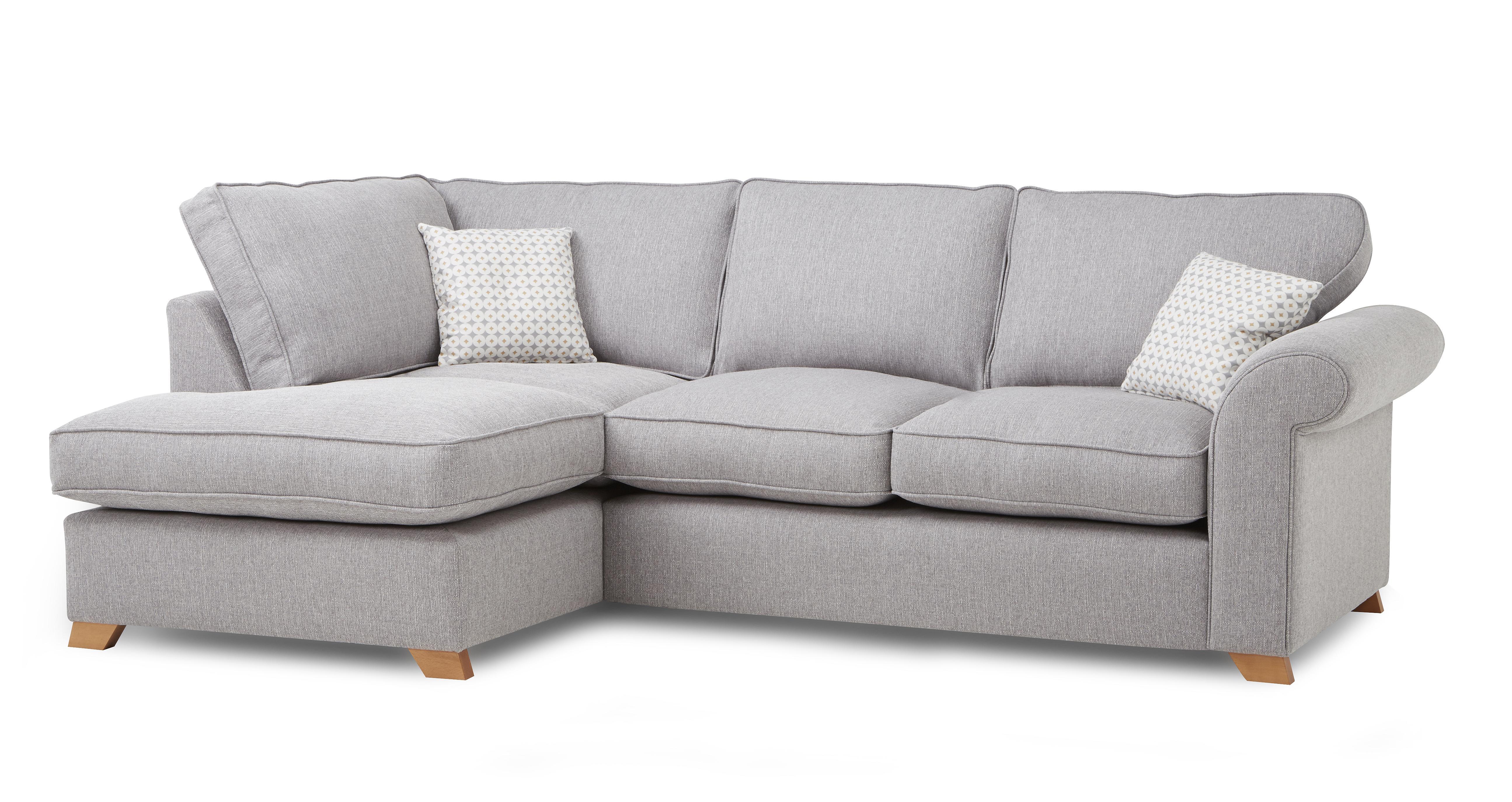 angelic right arm facing corner sofa bed dfs - Corner Sofa Bed