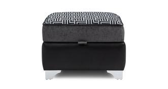 Angello Pattern Top Storage Footstool