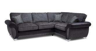 Angello Left Hand Facing 3 Seater Formal Back Corner Sofa