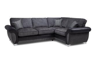 Left Hand Facing 3 Seater Formal Back Corner Sofa Angello
