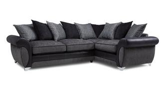 Angello Left Hand Facing 3 Seater Pillow Back Corner Sofa