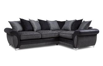 Left Hand Facing 3 Seater Pillow Back Corner Sofa Angello