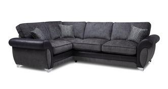 Angello Right Hand Facing 3 Seater Formal Back Corner Sofa