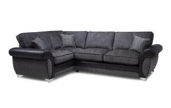 Right Hand Facing 3 Seater Formal Back Corner Sofa Angello