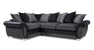 Angello Right Hand Facing 3 Seater Pillow Back Corner Sofa