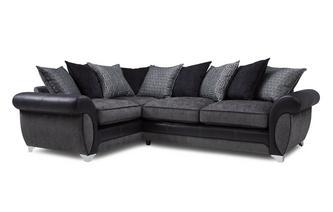 Right Hand Facing 3 Seater Pillow Back Corner Sofa Angello