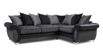 Angello Left Hand Facing 3 Seater Pillow Back Corner Supreme Sofabed