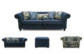 4 & 2 Seater Sofa, Cuddler & Stool