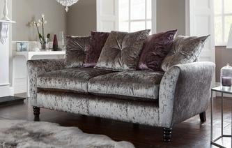 Annalise Pillow Back 3 Seater Sofa Krystal