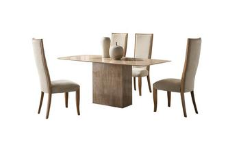 Fixed Table & Set of 4 Oslo Chairs Antoinette