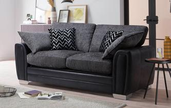 Antonia Formal Back 2 Seater Deluxe Sofa Bed Carrara