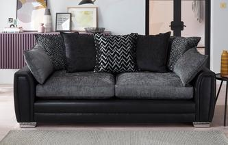 Antonia Pillow Back 4 Seater Sofa Carrara