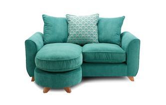 Pillow Back 2 Seater Lounger Sofa