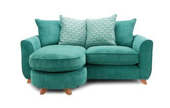 Pillow Back 3 Seater Lounger Sofa