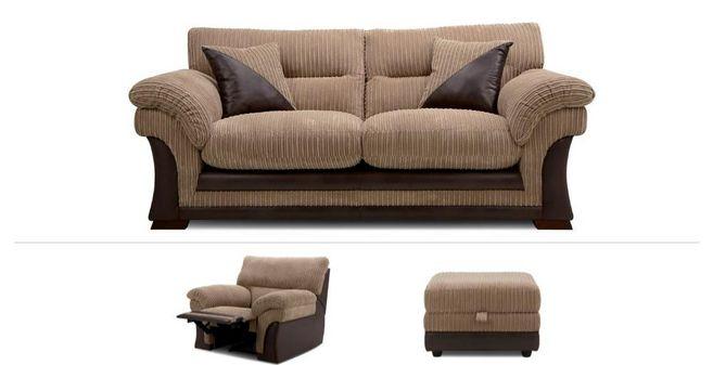 Aranby Clearance: 3 Seater Sofa, Power Chair & Stool