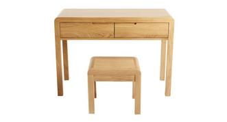 Archer Bedroom 2 Drawer Dressing Table & Stool