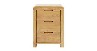 Archer Bedroom 3 Drawer Bedside Table