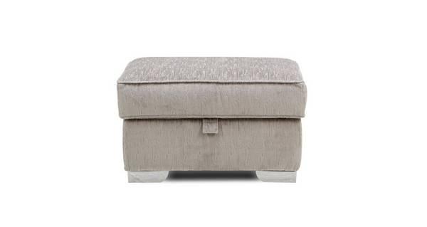 Aria Plush Storage Footstool