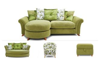 4 Seater Lounger, Cuddler Sofa, Chair & Stool Arica