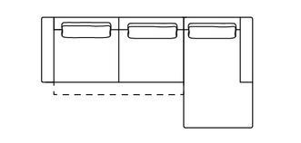 Arjan Rechtszijdige 3-zits chaise met elektrische recliner