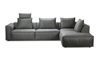 Linkszijdige 3-delige hoekbank met elektrische recliner