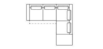 Arjan Linkszijdige 2.5-delige hoekbank met elektrische recliner