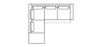 Arjan Rechtszijdige 2.5-delige hoekbank met elektrische recliner