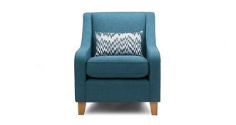 Arlo Accent Chair with Pattern Bolster