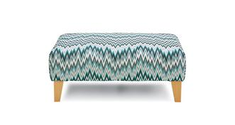 Arlo Pattern Banquette Footstool
