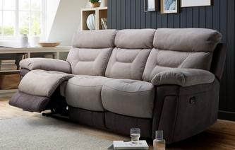 Armitage 3 Seater Manual Recliner Bacio Vellutato
