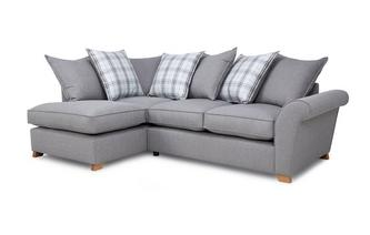 Right Hand Facing Pillow Back Corner Sofa