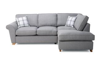 Left Hand Facing Formal Back Corner Sofa Bed