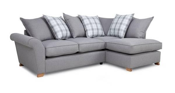 Arran Left Hand Facing Pillow Back Corner Sofa Bed