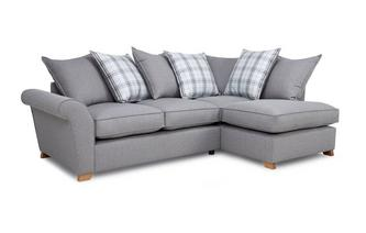 Left Hand Facing Pillow Back Corner Sofa